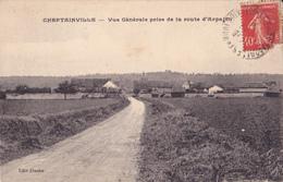 CHEPTAINVILLE - VUE GENERALE PRISE DE LA ROUTE D ARPAJON - France