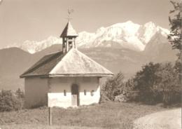 74 - Combloux - Le Mont-Blanc - Carte-photo René Bourdeau (écrite) - [chapelle Du Médonnet] - Combloux