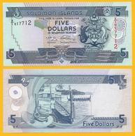 Solomon Islands 5 Dollars P-26r 2009 REPLACEMENT (Signature 9) UNC - Salomons