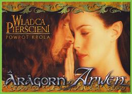 Voyo POLAND The LORD Of The RING - Return Of King ARAGORN & ARWEN MINT LOTR 091 Viggo Mortensen & Liv Tyler - Affiches Sur Carte