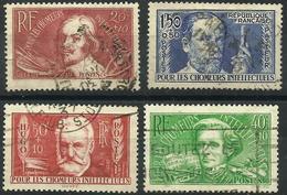 Chômeurs Intellectuels 1936 - YT 330 à 333 Oblitérés - France