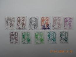 FRANCE 2013  CL024   TYPE DE MARIANNES DE CIAPPA ET KAWENA  (11 Timbres) - France