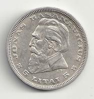 Lituanie 5 Litai 1936  Argent Silver - Lituania