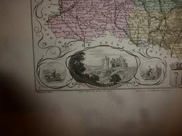 1880 OISE (Beauvais,Clermont,Compiègne,Senlis,etc) Carte Géographique-Descriptive:grav.taille Douce-Migeon,géographe - Cartes Géographiques