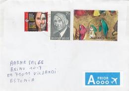 GOOD BELGIUM Postal Cover To ESTONIA 2012 - Good Stamped: Persons ; Art - Belgium