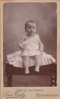 Photo.: C.D.V. : Bébé Assis Sur Un Coussin : Photo. : L. TALY : Romans : Drome - Alte (vor 1900)
