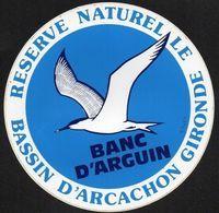 RESERVE NATURELLE BASSIN D ARCACHON GIRONDE BANC D ARGUIN * OISEAU  ** AUTOCOLLANT 3319 ** - Autocollants