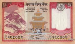 Nepal 5 Rupee (P60) Sign 19 -UNC- - Népal