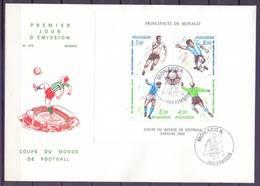 Monaco 1982 Mi Bl 20 FDC ( XFDC ZE1 MNCbl20#a ) - Wereldkampioenschap