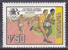 Tansania Tanzania 1984 Sport Spiele Olympia Olympics Los Angeles Leichtathletik Athletics Laufen, Mi. 243 ** - Tansania (1964-...)