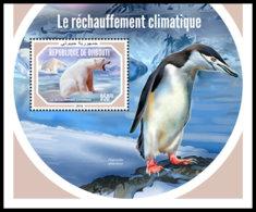 DJIBOUTI 2018 MNH Global Warming Erderwärmung Rechauffement Climatique S/S - IMPERFORATED - DH1903 - Protection De L'environnement & Climat