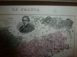 1880 TARN Et GARONNE (Montauban,Caussade,Castelsarrasin,Moissac,etc)  Carte Géo-Descriptive:Edition Migeon,géographe - Cartes Géographiques
