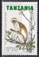 Tansania Tanzania 1985 Tiere Fauna Animals Affen Monkeys Stummelaffen Primaten Sansibar Zanzibar, Mi. 261 ** - Tansania (1964-...)