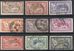 Lot De 9 Merson Oblitérés - YT 119, 120, 121, 123, 143, 144, 145, 206 Et 240 - 1900-27 Merson