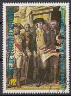 """Guinea Equatoriale 1976 Sc. 7569 """"Siege Of Yorktown"""" Quadro Dipinto A. Couder Paintings - CTO Equatorial - Guinea Equatoriale"""
