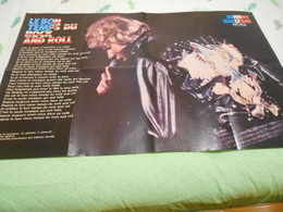 POSTER JOHNNY HALLIDAY LE BON TEMPS DU ROCK AND ROLL- AU DOS FLIC OU VOYOU JEAN PAUL BELMONDO 89 X 58 - Affiches & Posters