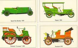 Lot De 4 Carte Postale - Napier-Panhard-Bentley-Standard - CP - Turismo
