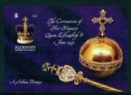 ALDERNEY  -  2003  Coronation Anniversary  Miniature Sheet  Used As Scan - Alderney