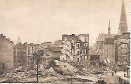 Cpa 44 Nantes Après Les Bombardements , Ww2 , Place Bretagne , Viergee - Nantes
