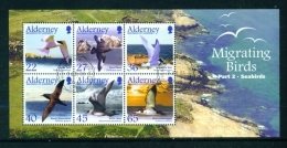 ALDERNEY  -  2003  Migrating Birds  Miniature Sheet  Used As Scan - Alderney