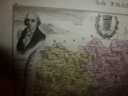 1880 VAR (Draguignan,Brignolles,Toulon,Aups,Callas,Comps,Cuers,Hyères,etc)Carte Géo-Descriptive:Edition Migeon,géographe - Cartes Géographiques