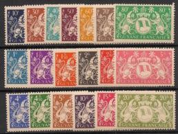 Guyane - 1945 - N°Yv. 182 à 200 - Série Complète - Neuf Luxe ** / MNH / Postfrisch - Guyane Française (1886-1949)