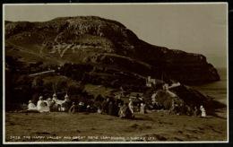 Ref 1263 - 1921 Judges Real Photo Postcard - The Happy Valley & Great Orme Llandudno - Caernarvonshire Wales - Caernarvonshire