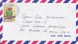 Trinidad & Tobago Air Mail RIO CLARO 1991 Cover Brief USA $2.50 Fugl Bird Vogel Oiseau Stamp - Trinidad & Tobago (1962-...)