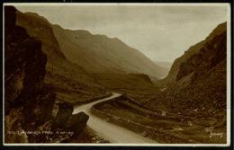 Ref 1263 - 1918 Judges Real Photo Postcard - Llanberis Pass - Caernarvonshire Wales - Caernarvonshire