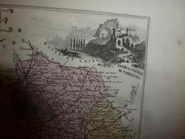 1880 VENDEE (La-Roche-sur-Yon,Fontenay,Les-Sables-d'Olonne,Luçon,etc) Carte Géo-Descriptive:Edition Migeon,géographe - Cartes Géographiques