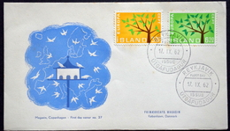 Iceland 1962 EUROPA / CEPT  Minr.364-65  FDC    ( Lot 5916  )  MAGASIN COVER - FDC