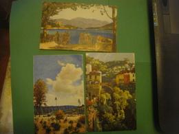 Lot De 3 Cartes Dessin PAYSAGE - Landschap - Landscape Scenery --- 1 Carte Dresdner Heide - Arbres