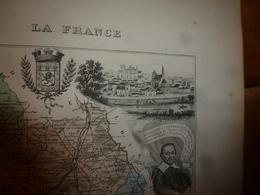 1880 VIENNE (Poitiers,Châtellerault,Civray,Loudun,Monmorillon,Lusignan,etc)Carte Géo-Descriptive:Edition Migeon,géograph - Geographische Kaarten