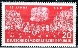 DDR - Mi 821 - ** Postfrisch (A) - 20Pf                15 Jahre SED - [6] République Démocratique