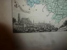 1880 Hte VIENNE (Limoges,Bellac,Rochechouart,St-Yrieix,Aixe,Nantiat,etc)Carte Géo-Descriptive:Edition Migeon,géograph - Cartes Géographiques