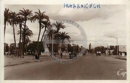 /!\ 9091 - CPA/CPSM - Maroc : Marrakech : Avenue Mangin - Marrakech