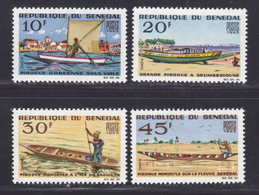 SENEGAL N°  258 à 261 ** MNH Neufs Sans Charnière, TB (D8383) Bateaux, Pirogues -1965 - Senegal (1960-...)