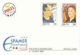 GOOD MALTA Postcard With Original Stamp 1996 - Europa - Malta