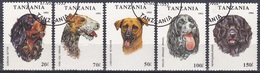 Tansania Tanzania 1993 Tiere Animals Haustiere Pets Hunde Dogs Setter Labrador Terrier Spaniel, Aus Mi. 1599-5 Gest. - Tansania (1964-...)