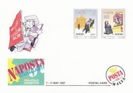 GOOD MALTA Postcard With Original Stamp 1997 - Europa - Malta