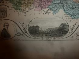 1880 VOSGES (Epinal,Mirecourt,Neufchâteau,Remiremont,St-Dié,Gerardmer,etc)Carte Géo-Descriptive:Edition Migeon,géograph - Geographische Kaarten