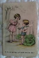 Petit Calendrier 1940 Illustré Enfants Style Germaine Bouret - Lingerie Chez Maguy Toulon Var - Petit Format : 1921-40
