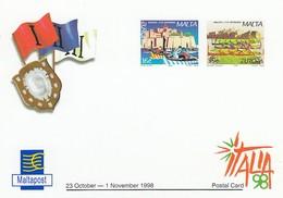 GOOD MALTA Postcard With Original Stamp 1998 - Europa - Malta