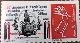 NOUVELLE CALEDONIE (New Caledonia)- Timbre Personnalisé - Anciens Combattants - 2019 - Nueva Caledonia