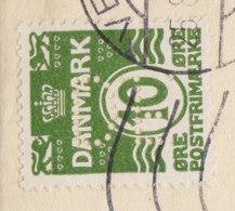 Denmark Perfin Perforé Lochung (D29) D. Friis A/S TMS Cds. VEJLE 1924 Cover Brief + Original Contents Nota (4 Scans) - Abarten Und Kuriositäten
