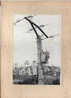 Photo Non Localisée Sur Carton - Poteau Electrique  -Voeux De L' E.D.F.) (111448) - Zonder Classificatie