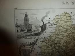 1880 LOT Et GARONNE (Agen,Marmande,Nérac,Villeneuve-sur-Lot,Bouglon,etc) Carte Géo-Descriptive:Edition Migeon,géograph - Cartes Géographiques