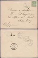 INDOCHINE Yv 17 SUR LETTRE DE ANNAM  13/05/1901 VERS BELGIQUE (6G18538) DC-MV507 - Indochine (1889-1945)