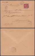 INDOCHINE Yv 13 SUR LETTRE RECOMMANDE DE SAIGON CENTRAL 26/06/1897 VERS FRANCE (6G18538) DC-MV508 - Indochina (1889-1945)
