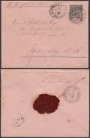 INDOCHINE EP LETTRE 25c  DE SAIGON PORT 13/06/1896 VERS LONDRES (6G18538) DC-MV526 - Covers & Documents